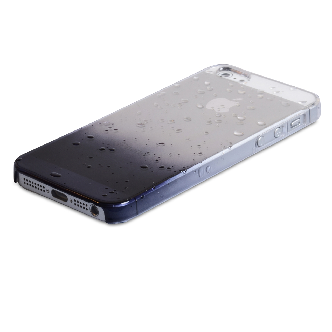 YouSave Accessories iPhone 5 / 5S Raindrop Hard Case - Black