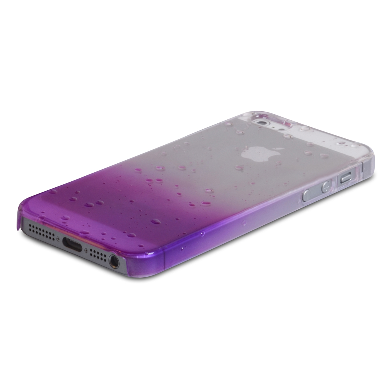 YouSave Accessories iPhone 5 / 5S Purple Raindrop Hard Case