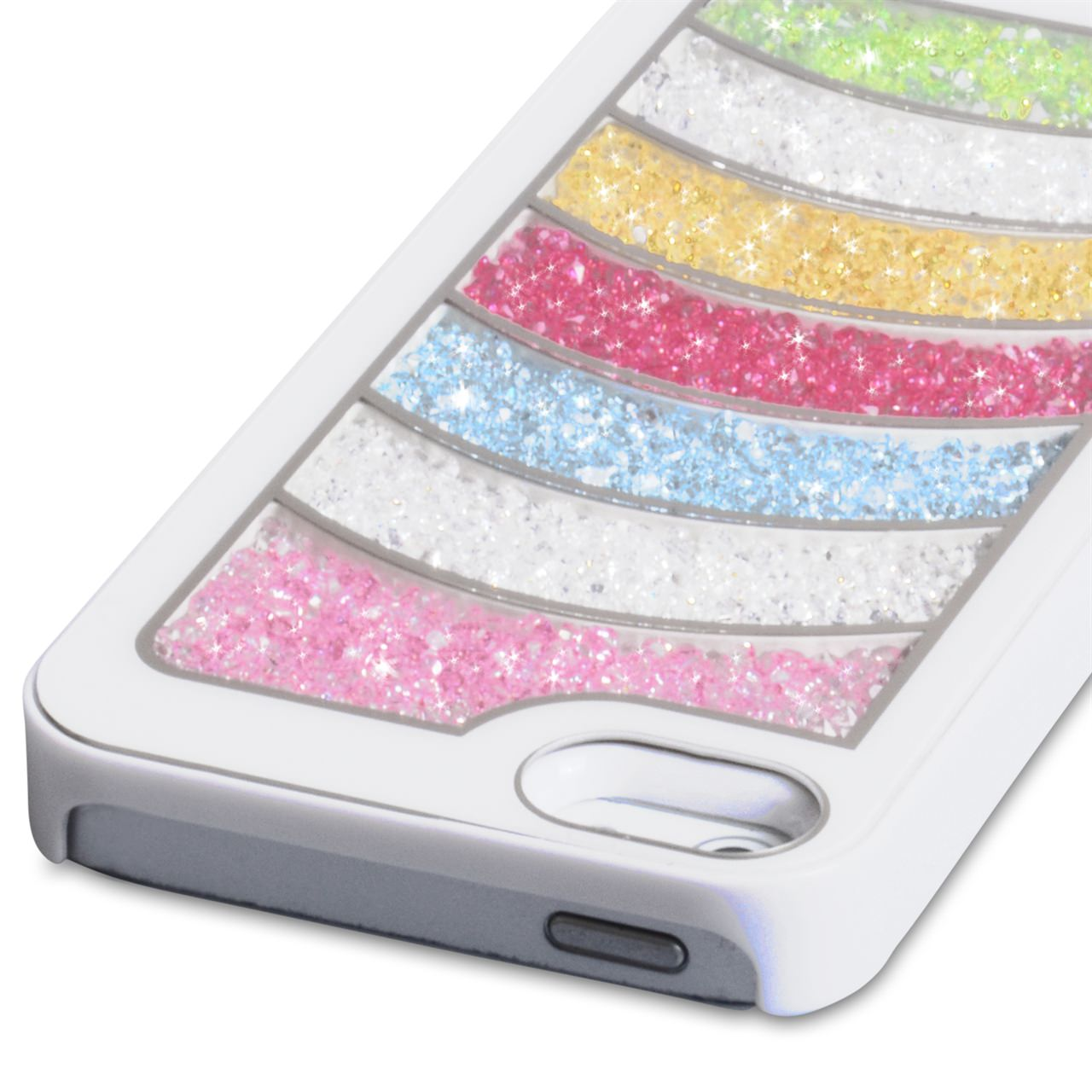 YouSave Accessories iPhone 5 / 5S White Rainbow Bling Hard Case