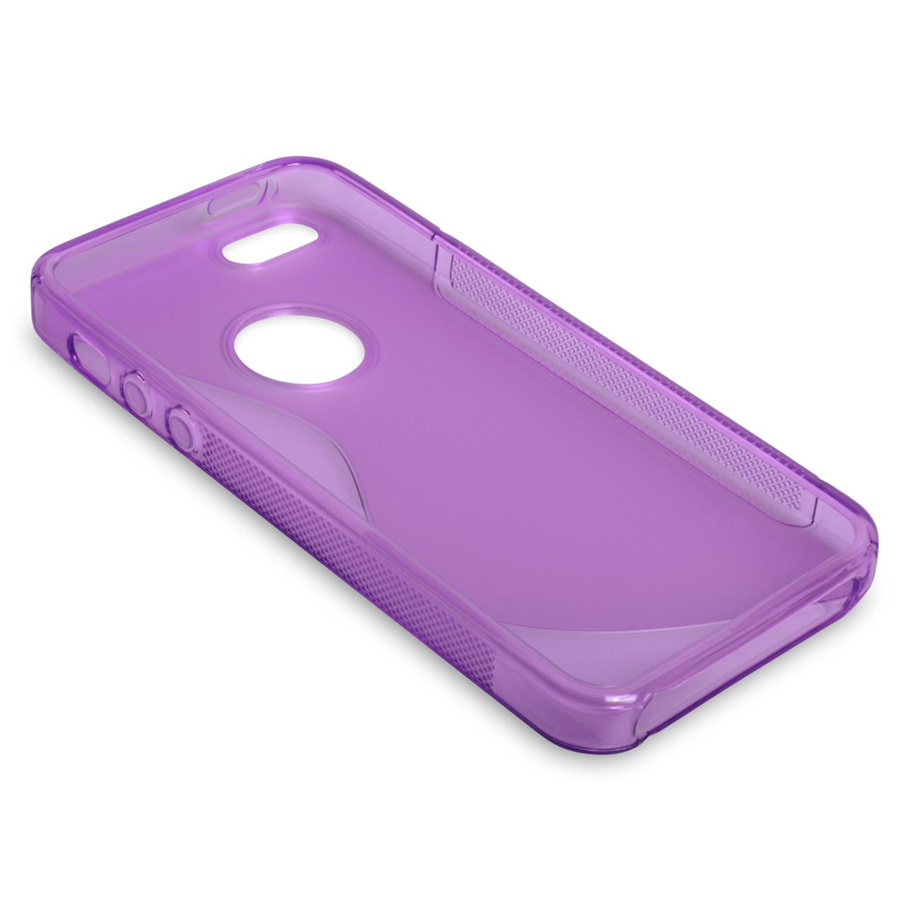 Caseflex iPhone 5 / 5S S-Line Gel Case - Purple