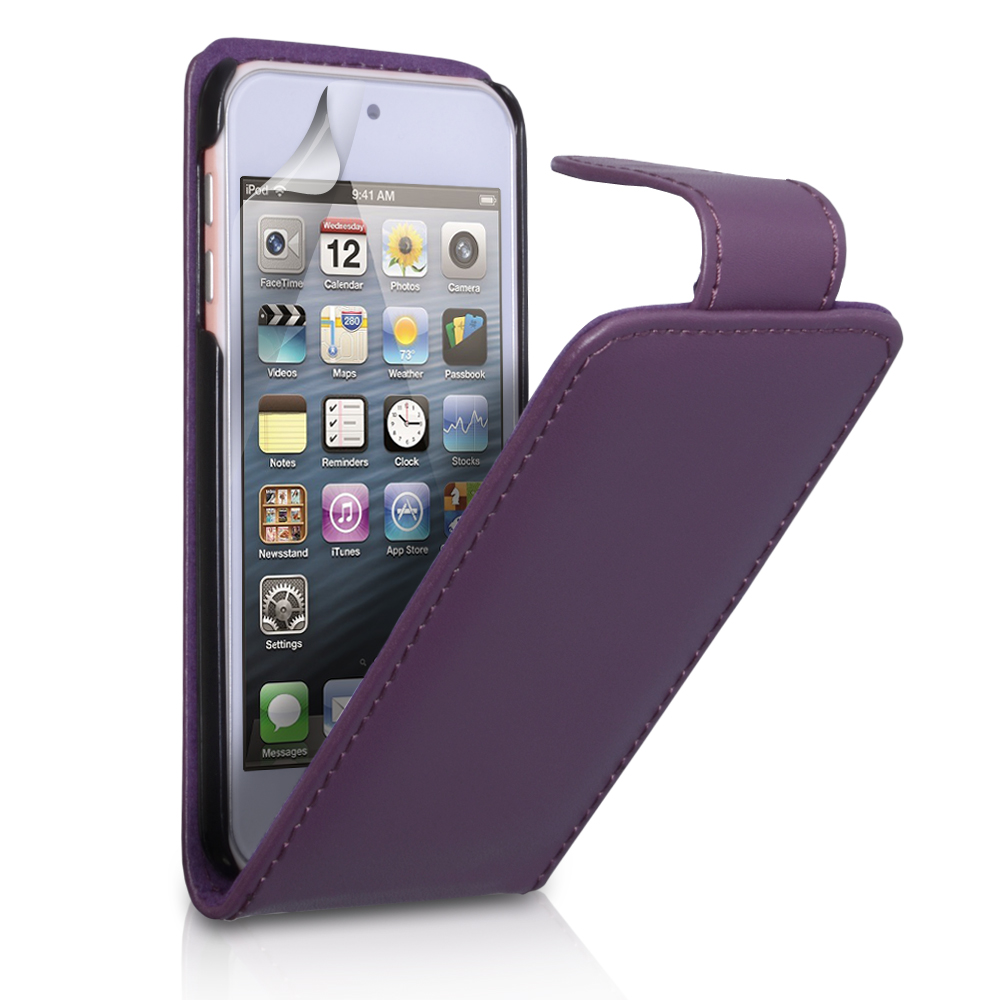 YouSave Accessories iPod Touch 5G Purple Leather Effect Flip Case