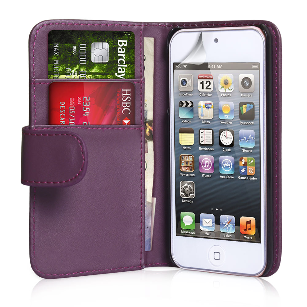 YouSave Accessories iPod Touch 5G Purple Leather Effect Wallet Case