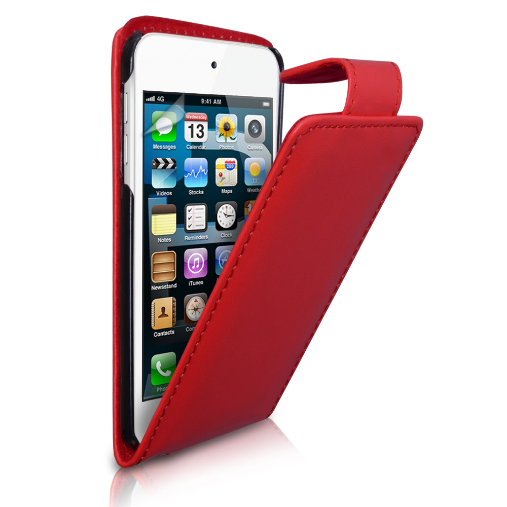 YouSave Accessories iPod Touch 5G Red Leather Effect Flip Case