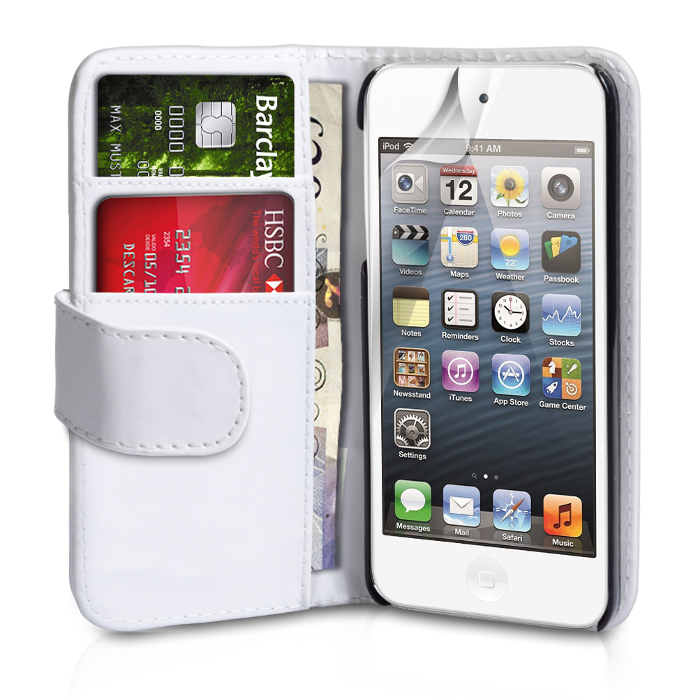 YouSave Accessories iPod Touch 5G White Leather Effect Wallet Case