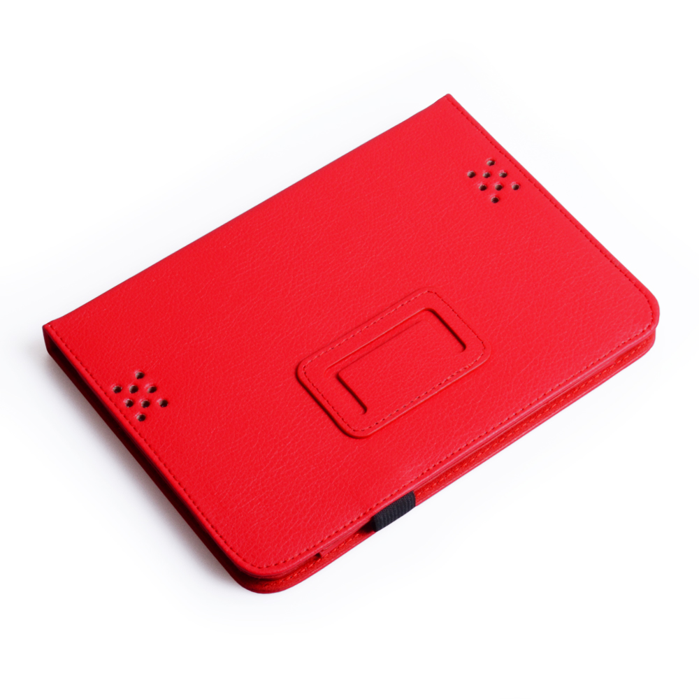 Caseflex Kindle Fire HD Textured Faux Leather Stand Case - Red