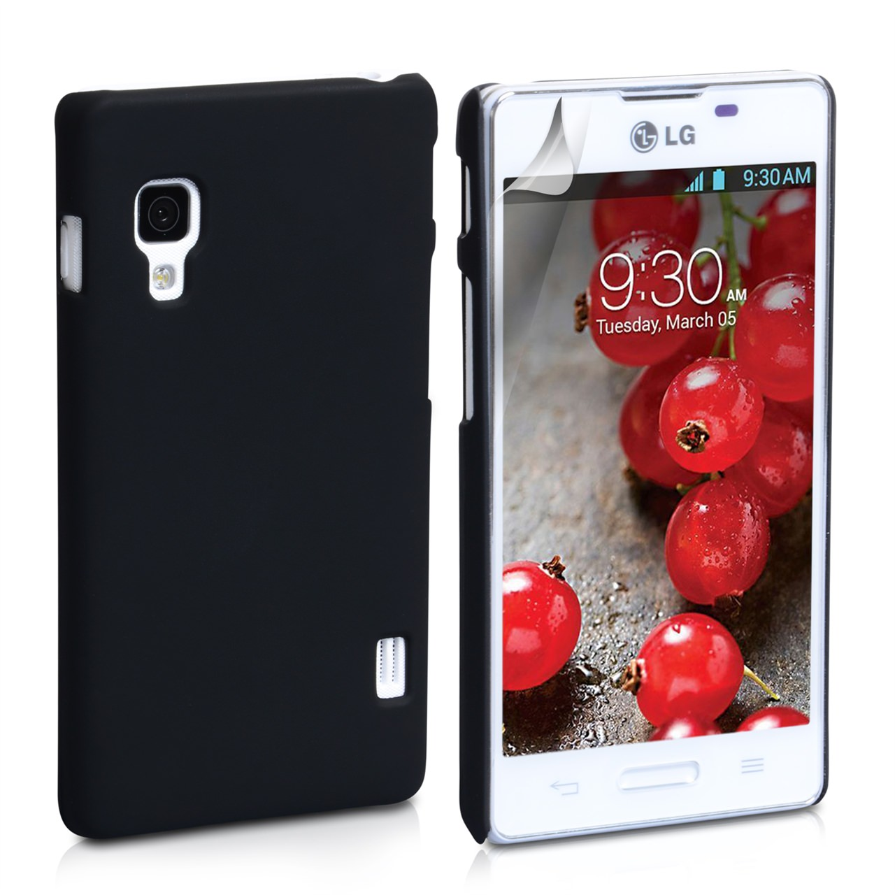 YouSave Accessories LG Optimus L5 II Black Hard Hybrid Case