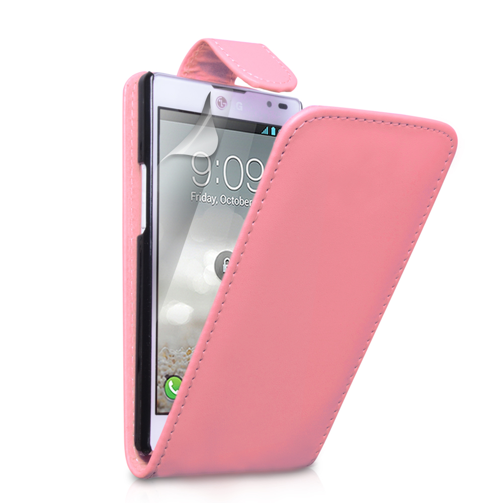 YouSave Accessories LG Optimus L9 Baby Pink Leather Effect Flip Case