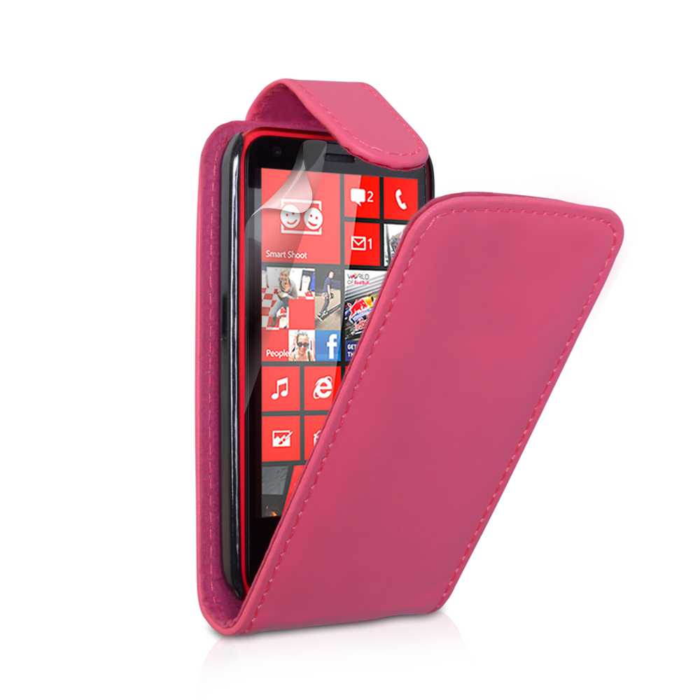 YouSave Accessories LG Optimus L9 Hot Pink Leather Effect Flip Case