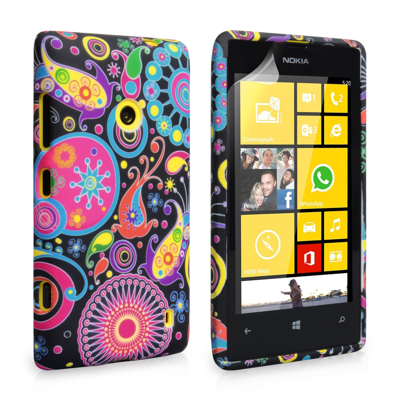 YouSave Accessories Nokia Lumia 520 Jellyfish Silicone Gel Case