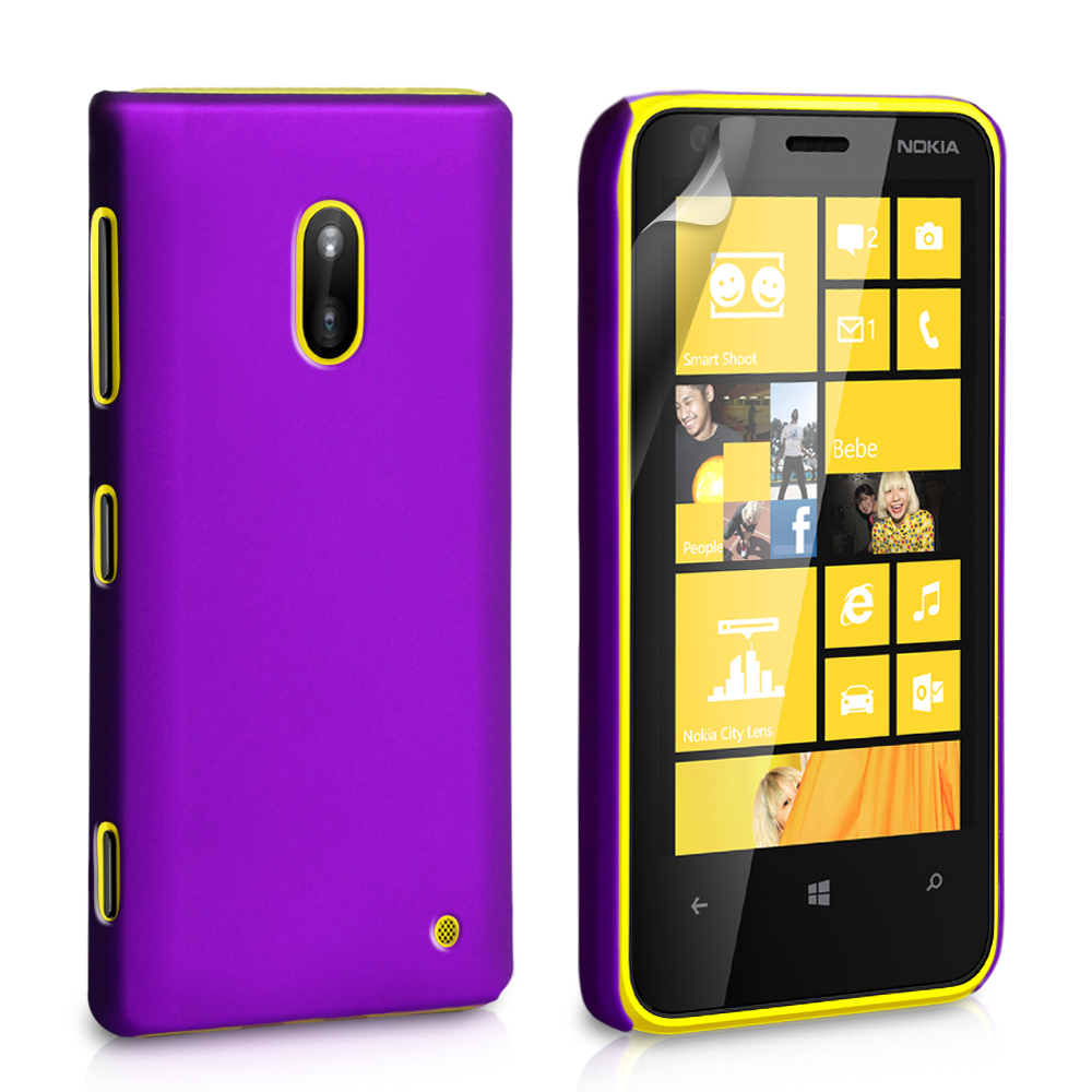 YouSave Accessories Nokia Lumia 620 Hard Hybrid Case - Purple