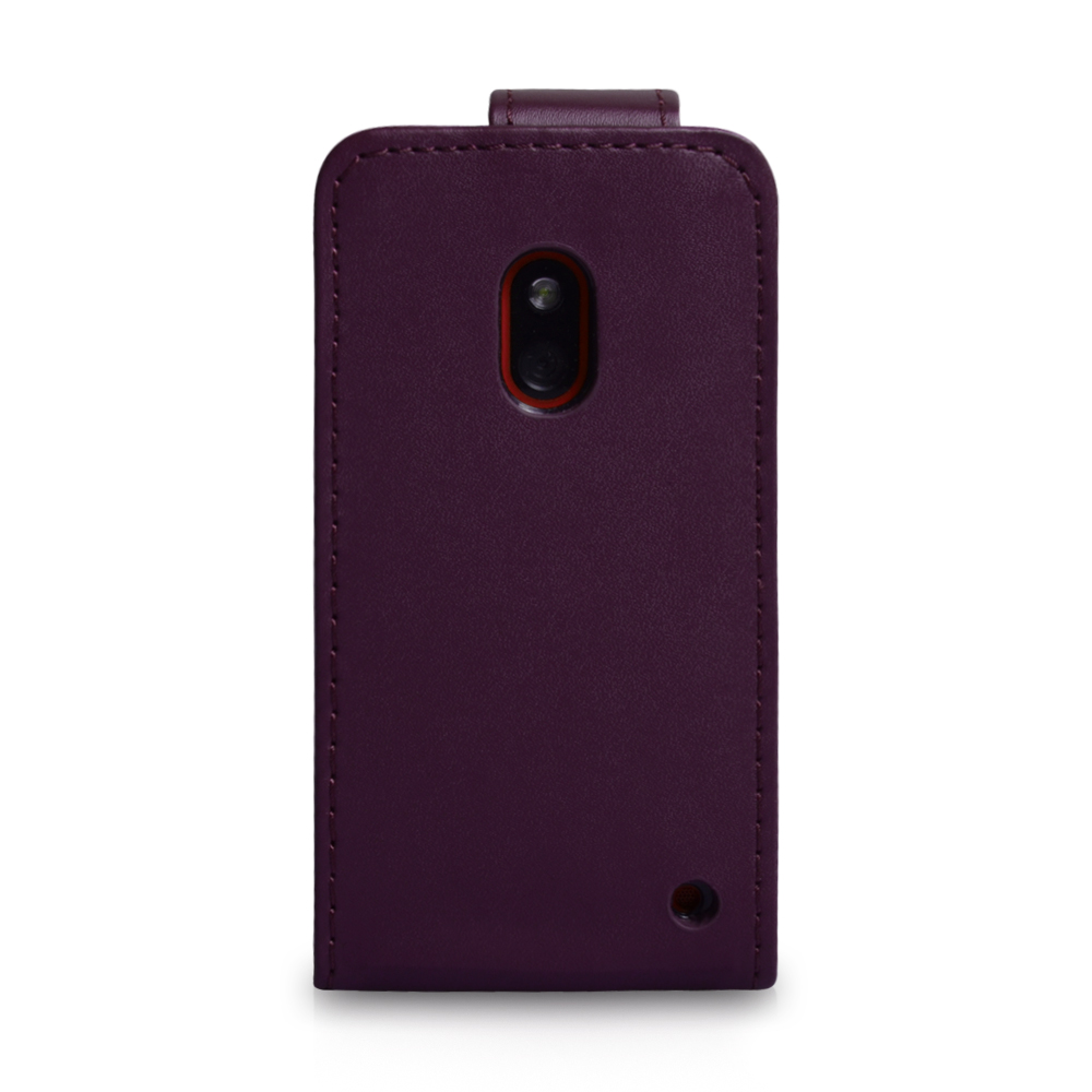 YouSave Accessories Nokia Lumia 620 Leather Effect Flip Case - Purple