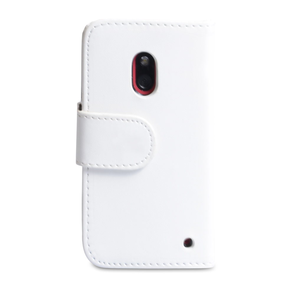 YouSave Accessories Nokia Lumia 620 Leather Effect Wallet Case - White