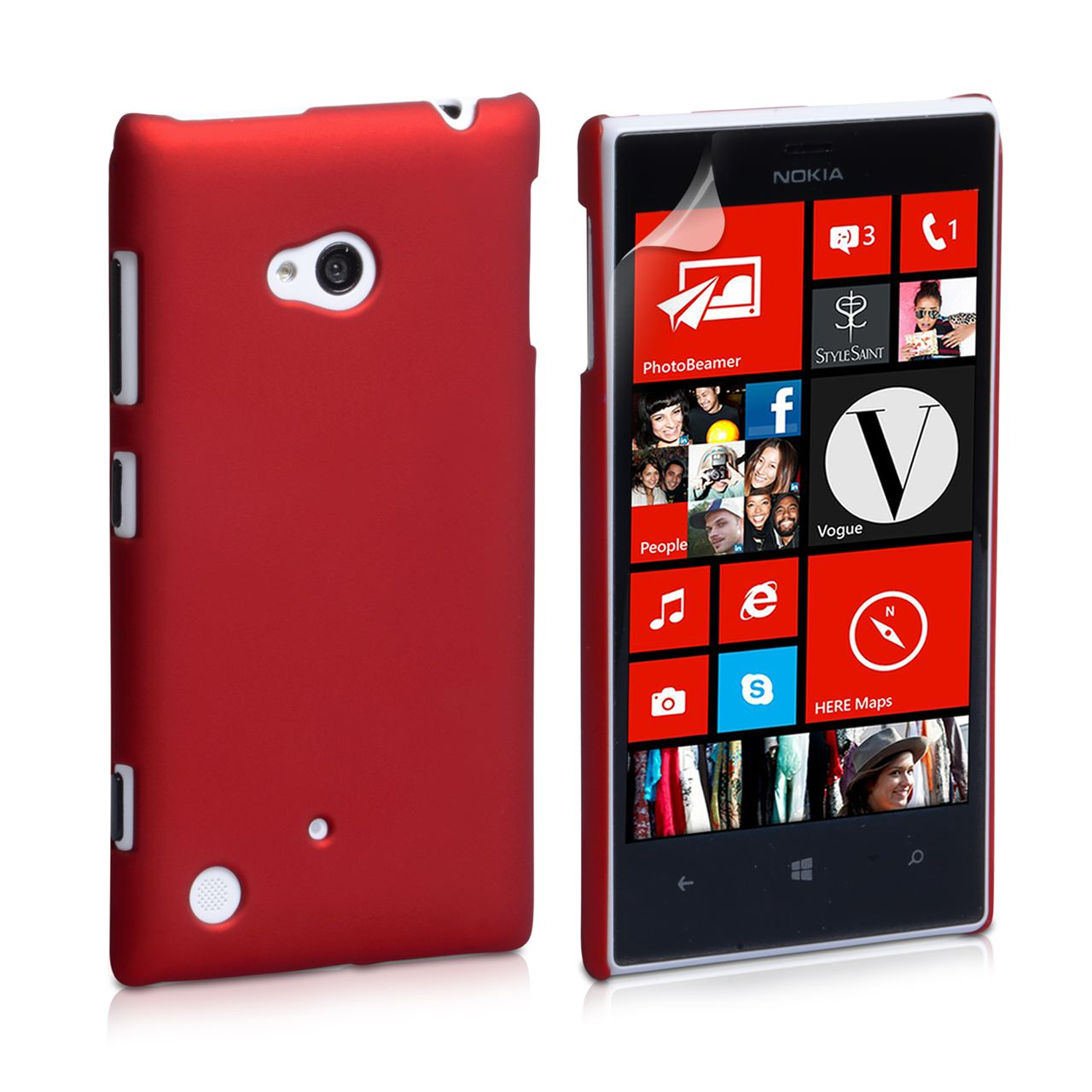 YouSave Accessories Nokia Lumia 720 Hard Hybrid Case - Red