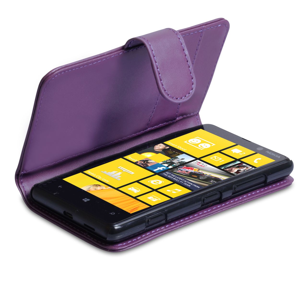 YouSave Nokia Lumia 820 Leather Effect Wallet Case - Purple