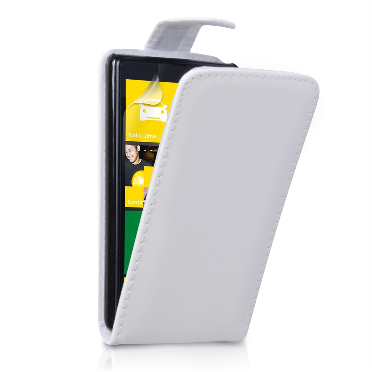 YouSave Accessories Nokia Lumia 820 Leather Effect Flip Case - White