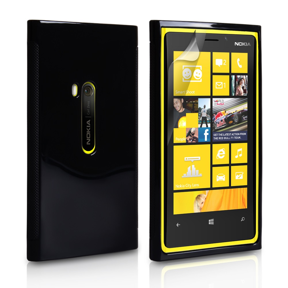 YouSave Accessories Nokia Lumia 920 Glossy Gel Case - Black