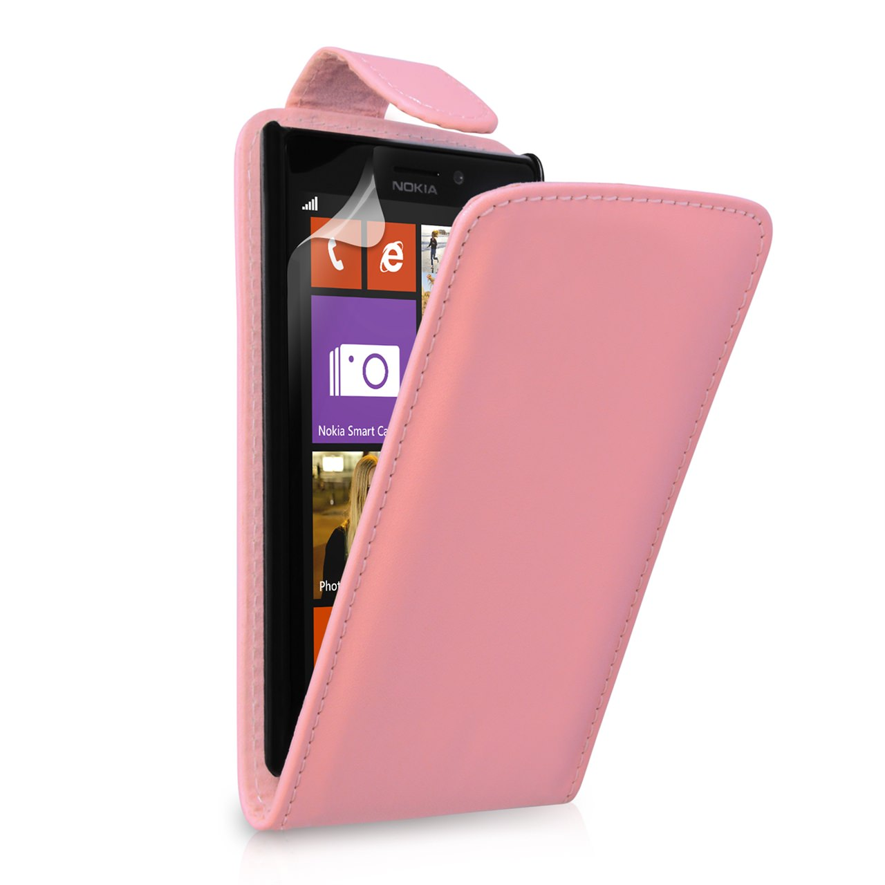 YouSave Accessories Nokia Lumia 925 Leather Effect Flip Case - Pink