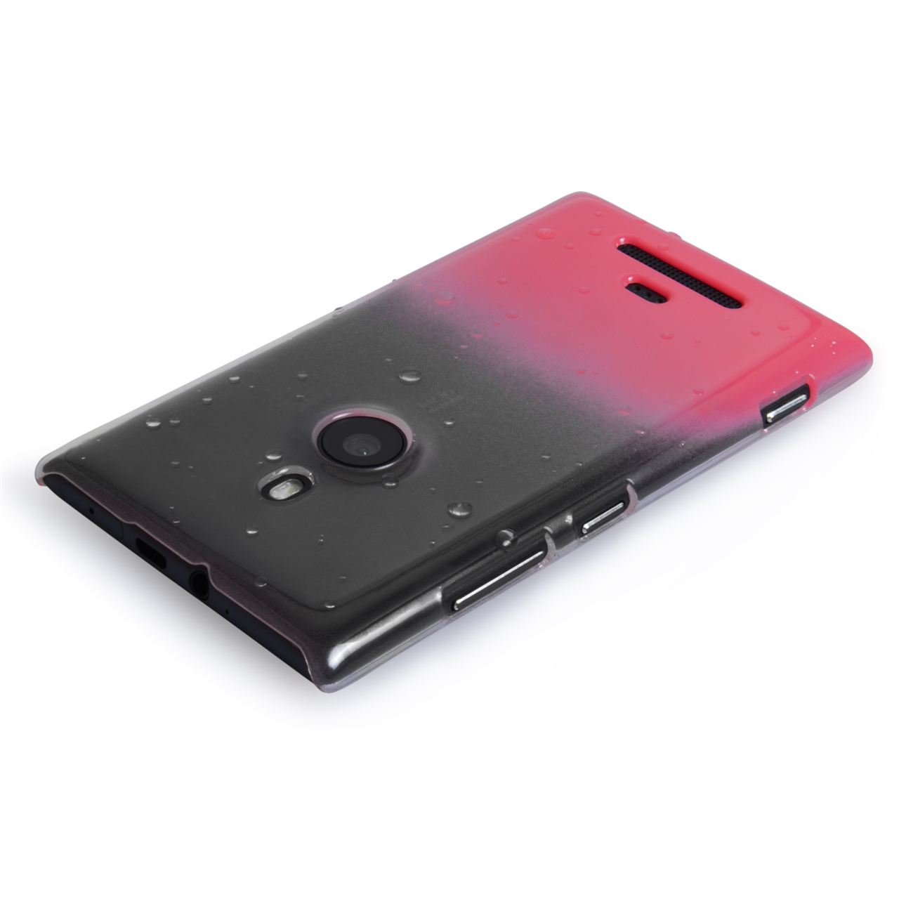 YouSave Accessories Nokia Lumia 925 Raindrop Hard Case - Pink