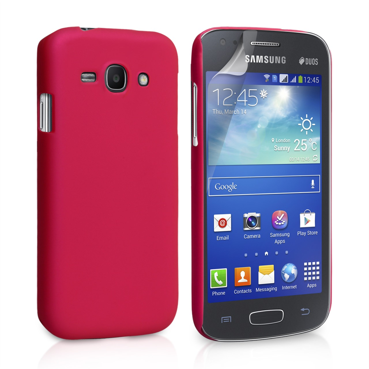 YouSave Accessories Samsung Galaxy Ace 3 Hard Hybrid Case - Hot Pink