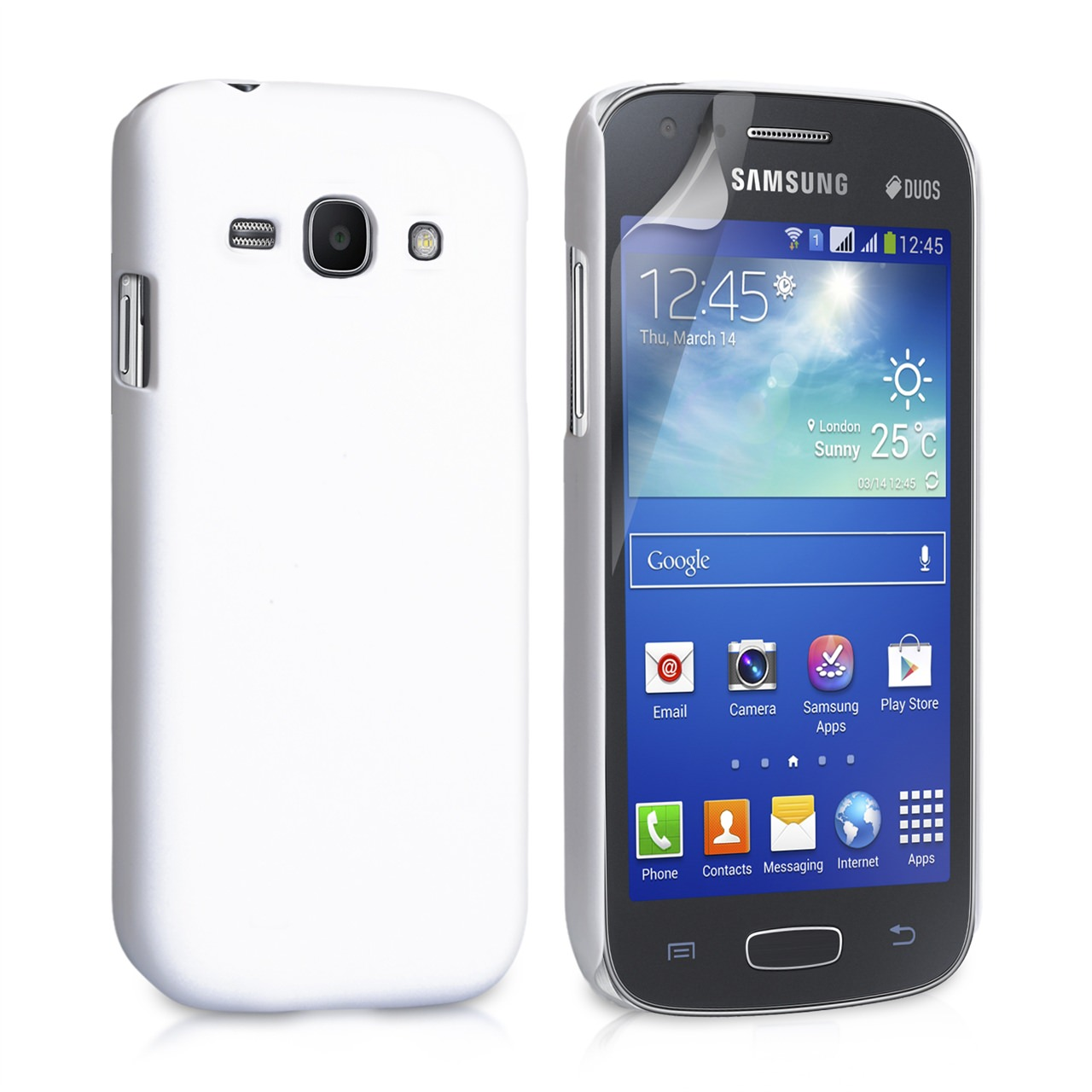 YouSave Accessories Samsung Galaxy Ace 3 Hybrid Hard Case - White
