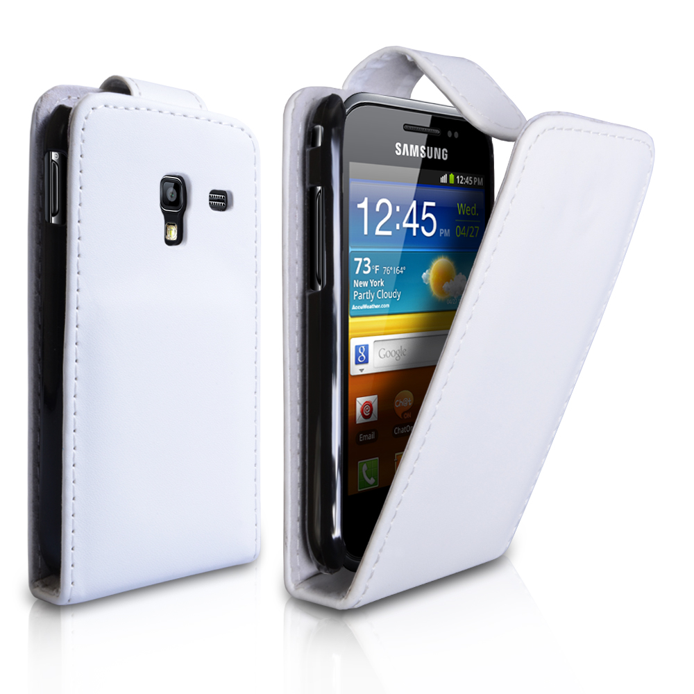 YouSave Samsung Galaxy Ace Plus Leather Effect Flip Case - White