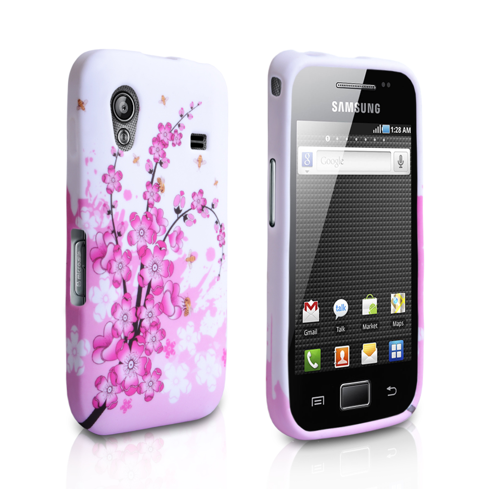 YouSave Accessories Samsung Galaxy Ace Floral Bee Silicone Gel Case