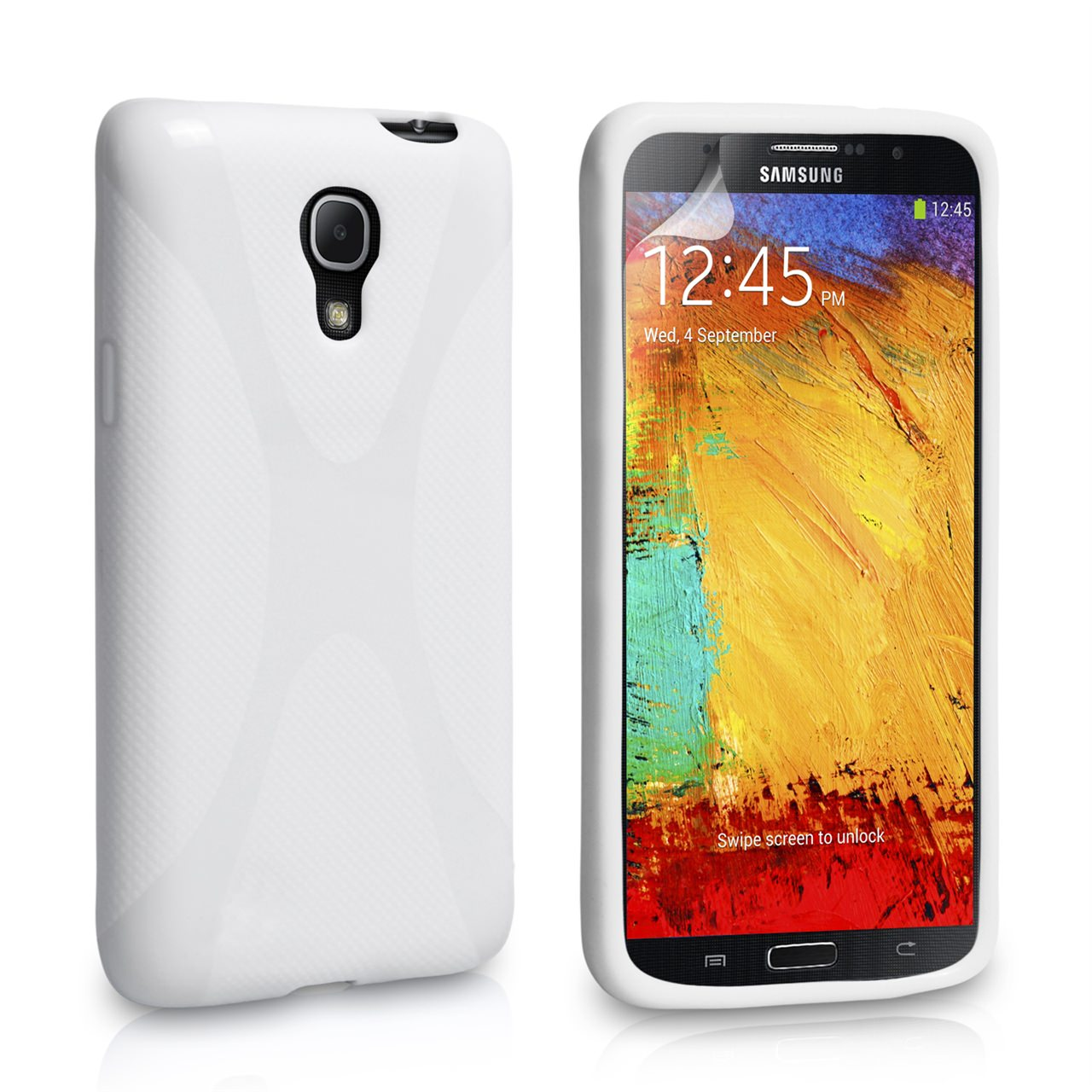 YouSave Accessories Samsung Galaxy Note 3 X-Line Gel Case - White