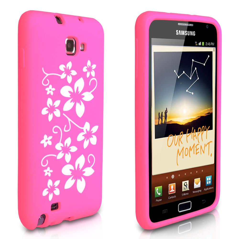 YouSave Accessories Samsung Galaxy Note Floral Gel Case - Pink
