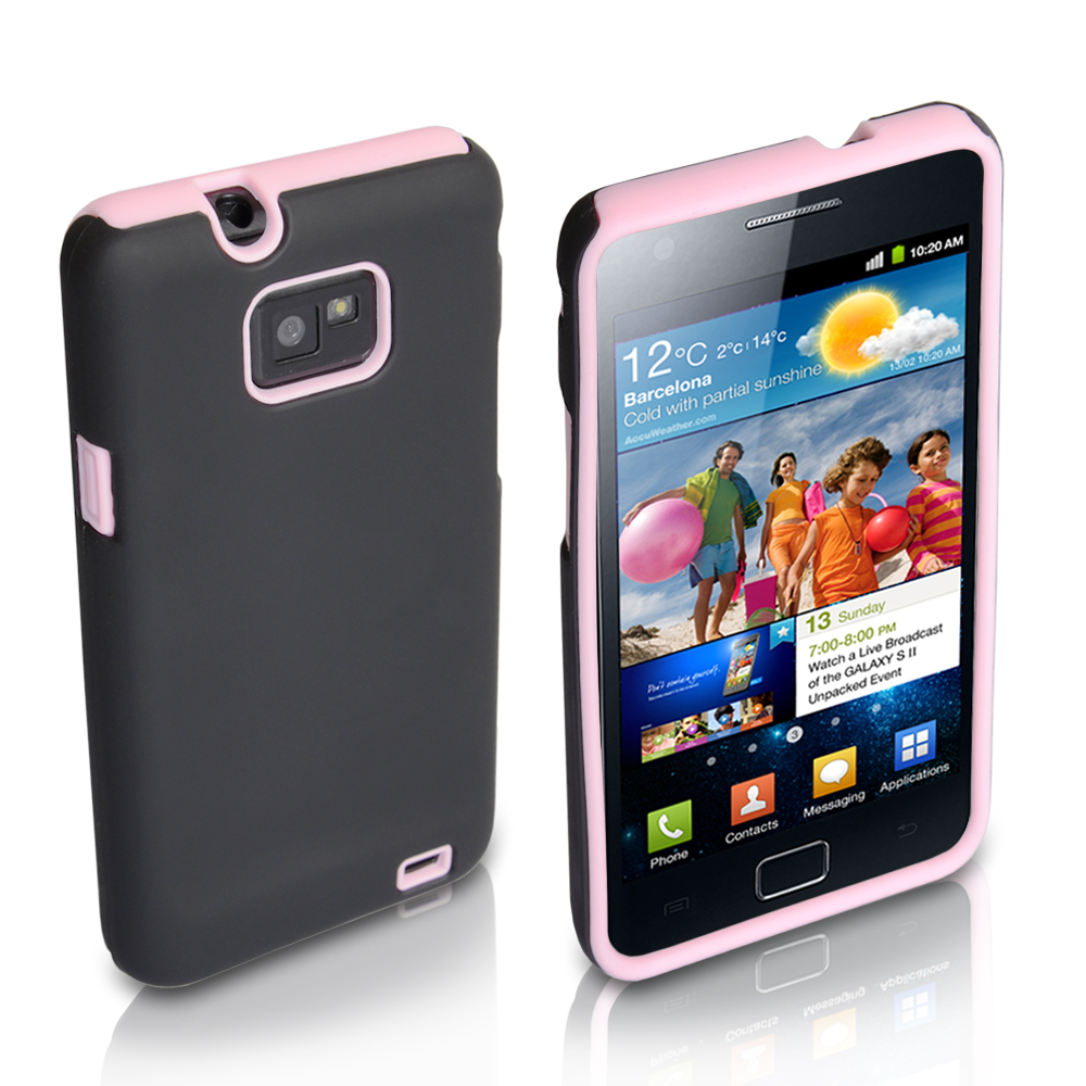 YouSave Accessories Samsung Galaxy S2 Light Pink Hard Soft Combo Case