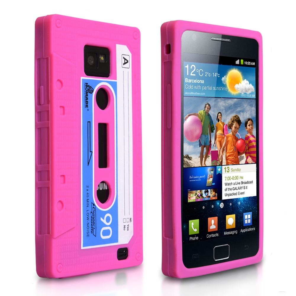 YouSave Accessories Samsung Galaxy S2 Pink Cassette Gel Case