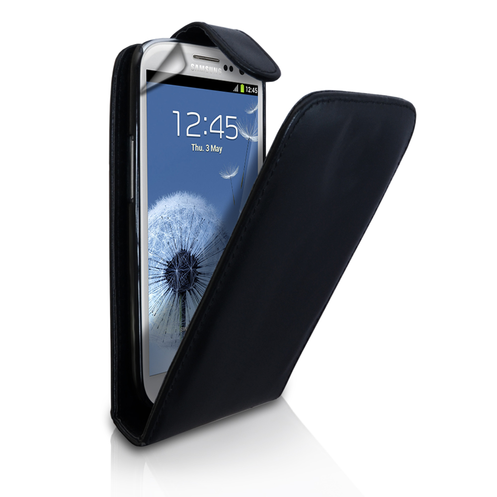 YouSave Accessories Samsung Galaxy S3 Leather Effect Flip Case - Black