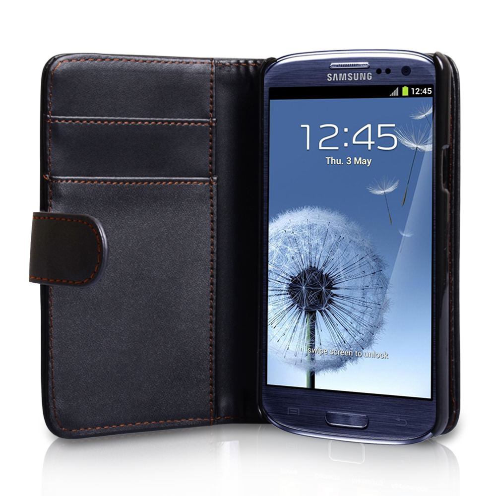 YouSave Samsung Galaxy S3 Leather Effect Wallet Case - Black
