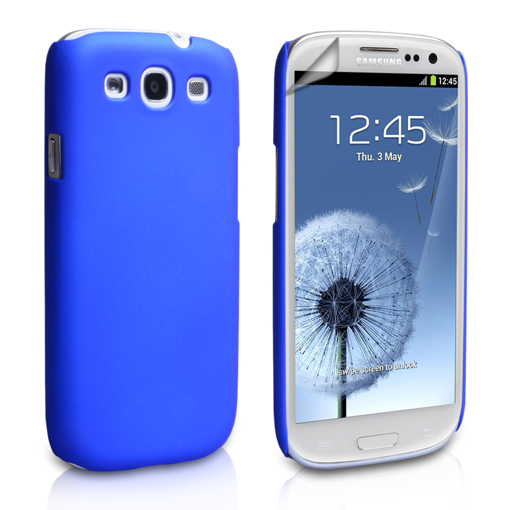 Cooling Case For Samsung Galaxy S3 : Yousave samsung galaxy s hard hybrid case blue mob