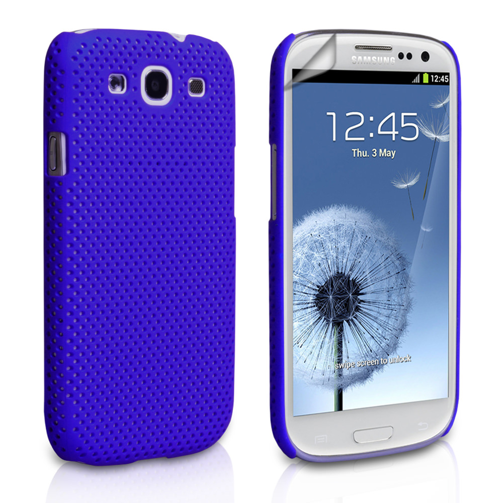 YouSave Accessories Samsung Galaxy S3 Blue Mesh Hard Case