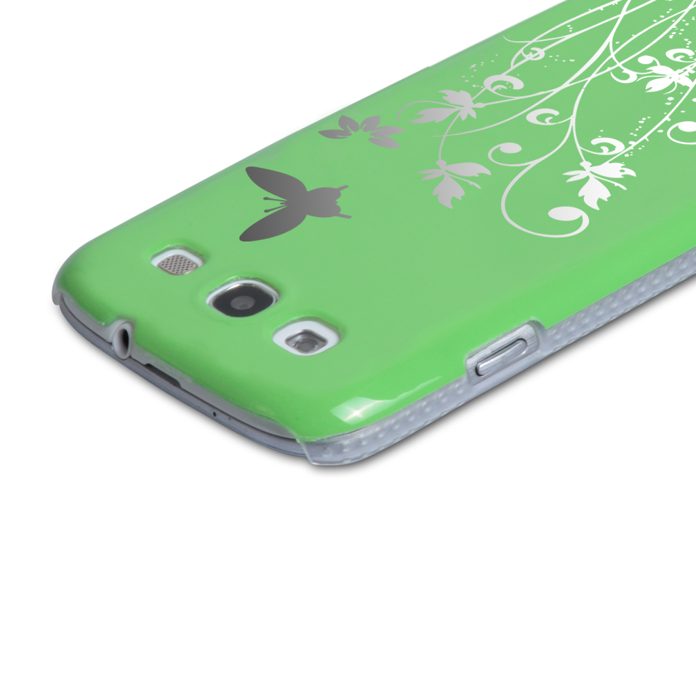 YouSave Accessories Samsung Galaxy S3 Green Butterfly IMD Hard Case