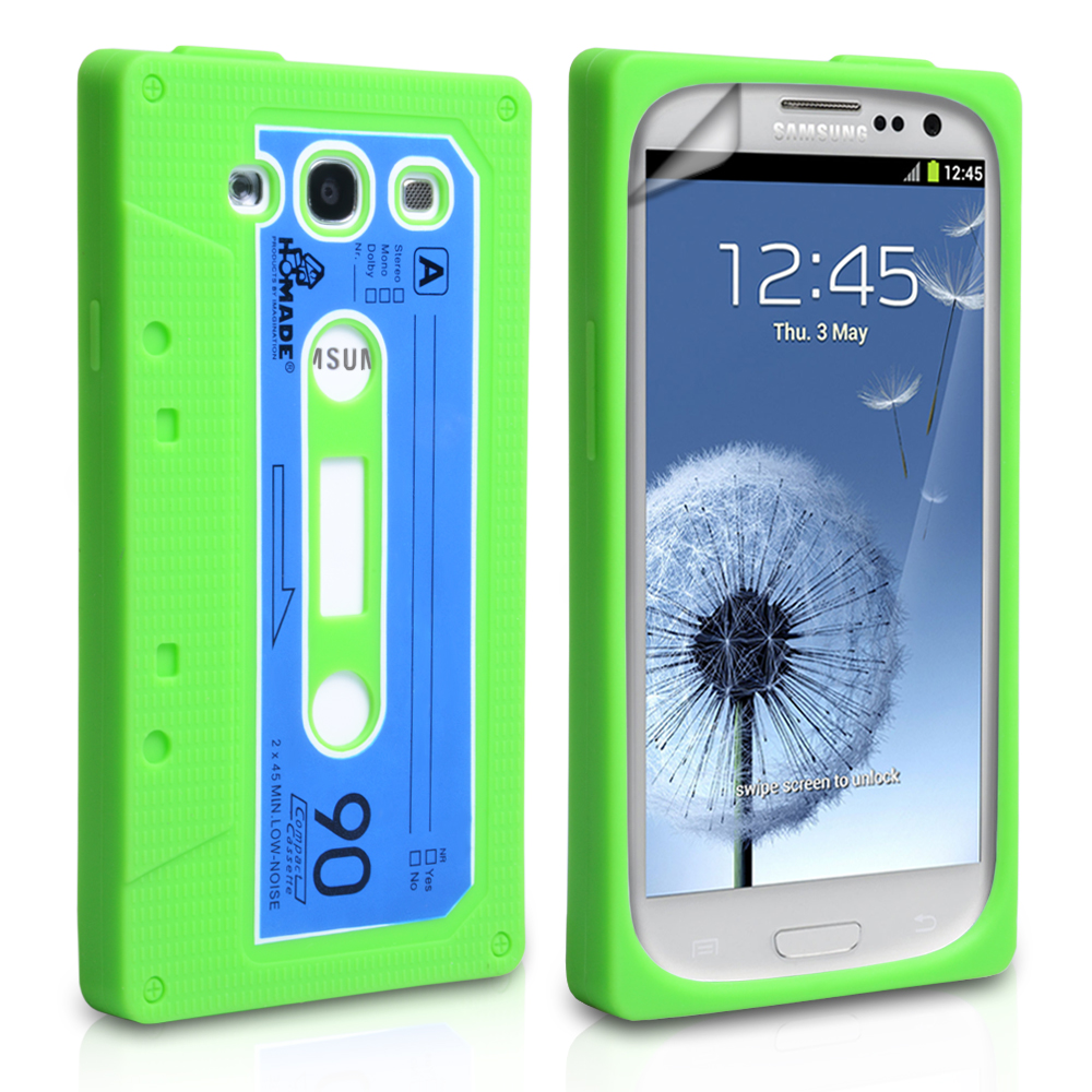 YouSave Accessories Samsung Galaxy S3 Green Cassette Case