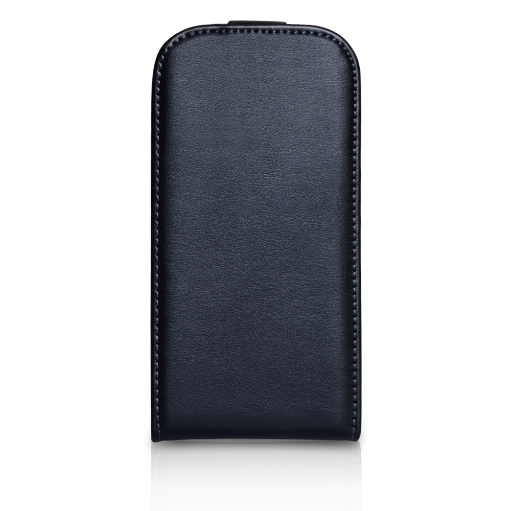 YouSave Accessories Samsung Galaxy S3 Mini Black Real Leather Flip Case