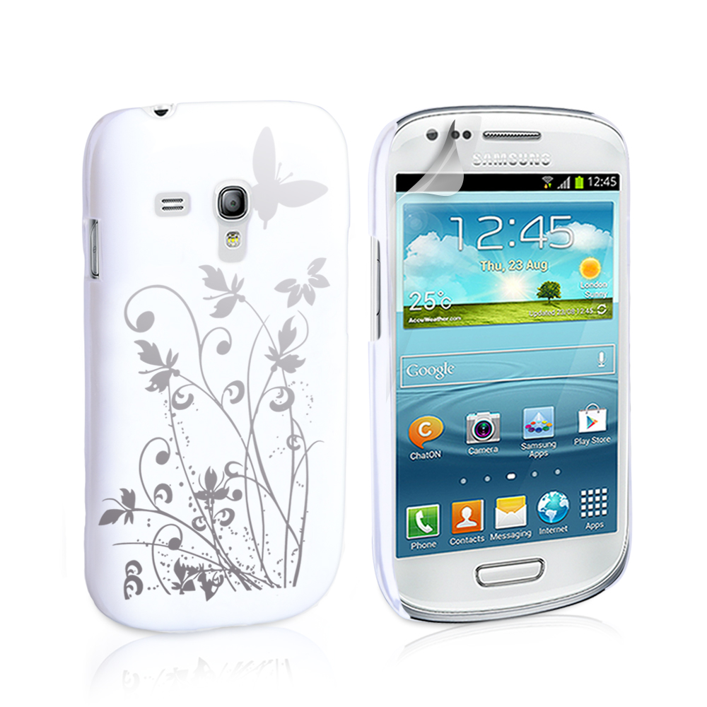 YouSave Accessories Samsung Galaxy S3 Mini White Butterfly IMD Case