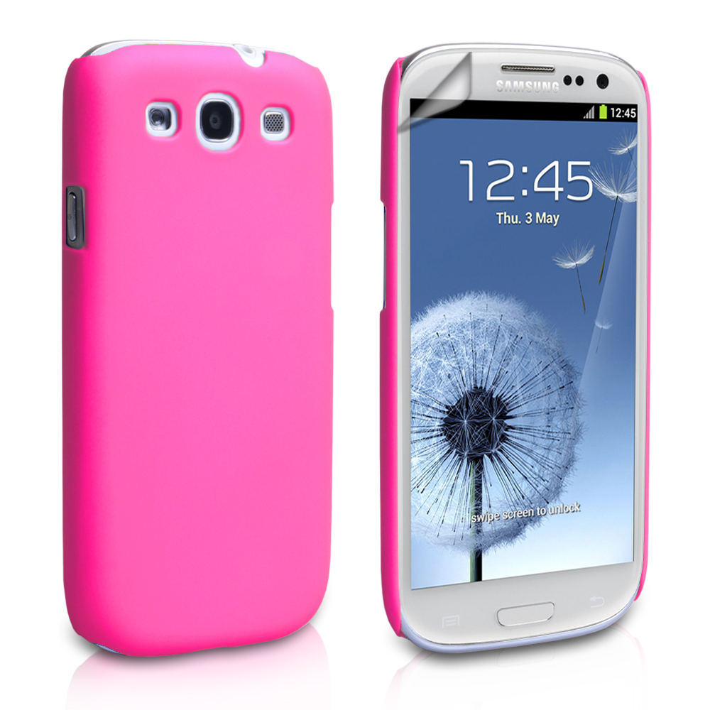 YouSave Accessories Samsung Galaxy S3 Hard Hybrid Case - Pink