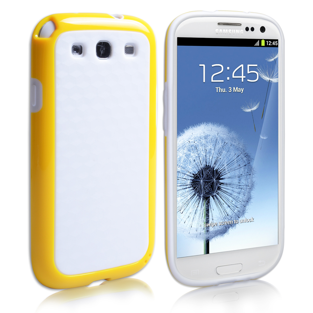YouSave Samsung Galaxy S3 Combo Carbon Hybrid Gel Case - Yellow