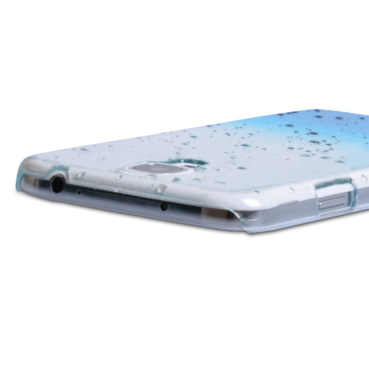 YouSave Accessories Samsung Galaxy S4 Raindrop Hard Case Blue/Clear