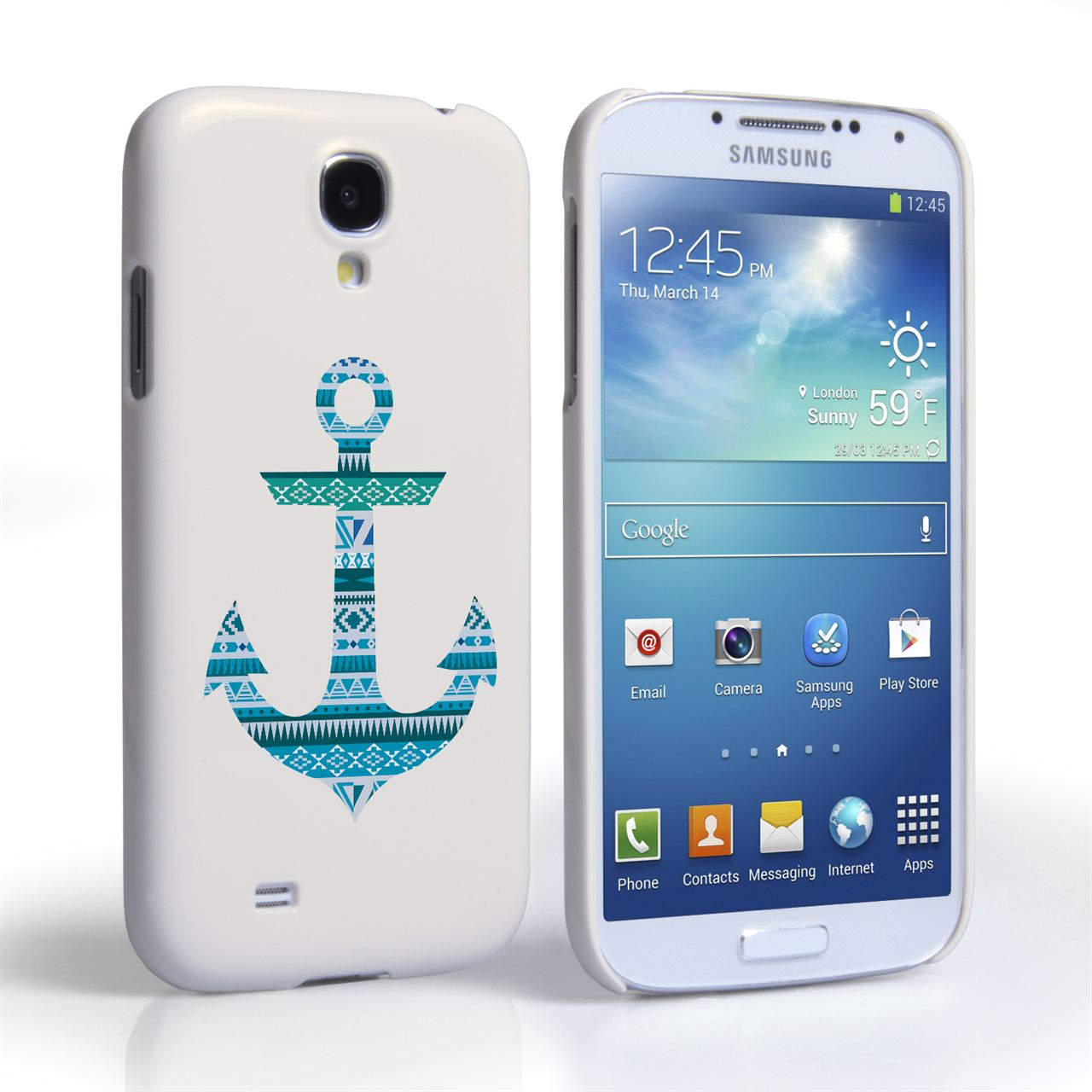 Caseflex Samsung Galaxy S4 Aztec Blue Anchor Hard Case