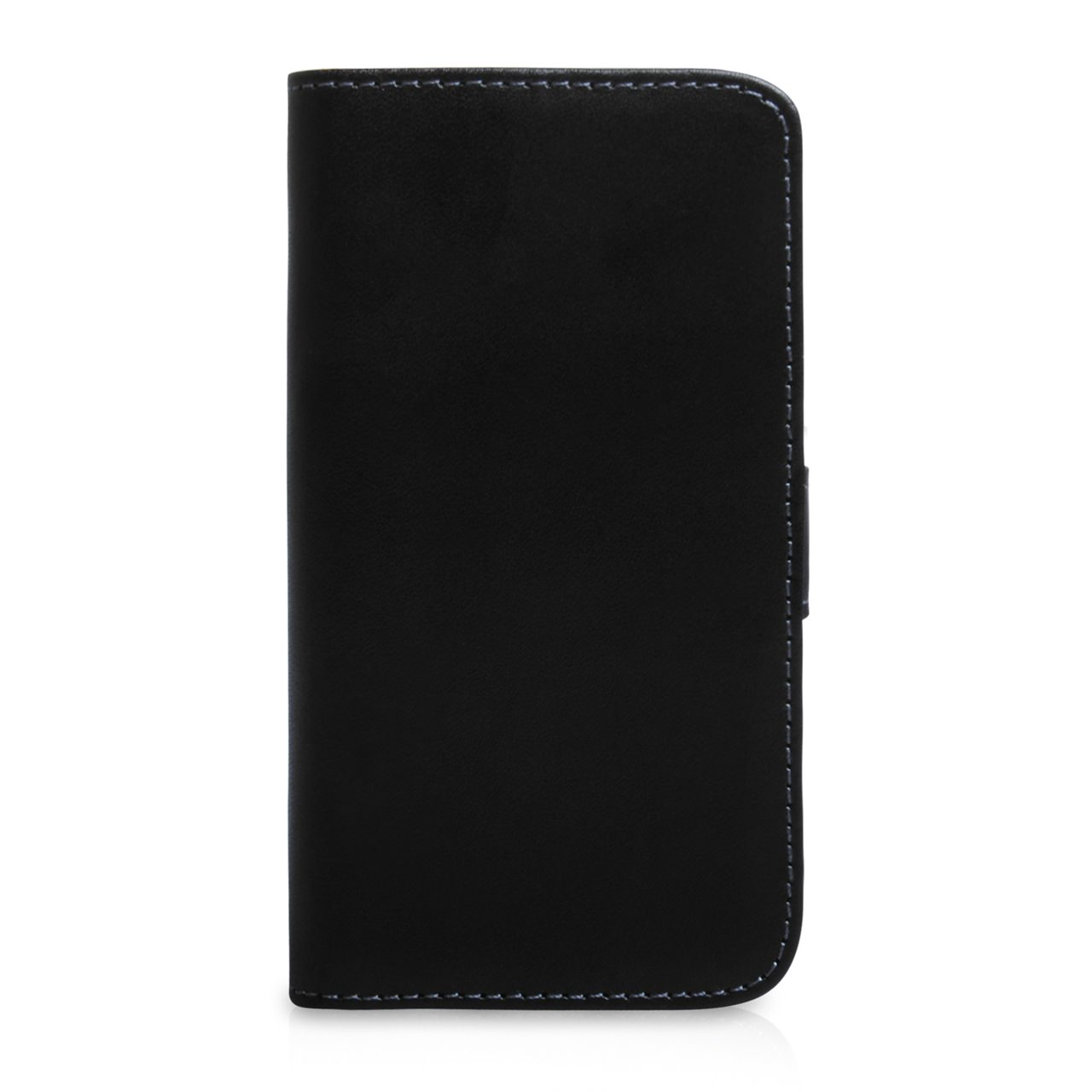 YouSave Samsung Galaxy S4 Mini Black Real Leather Wallet Case