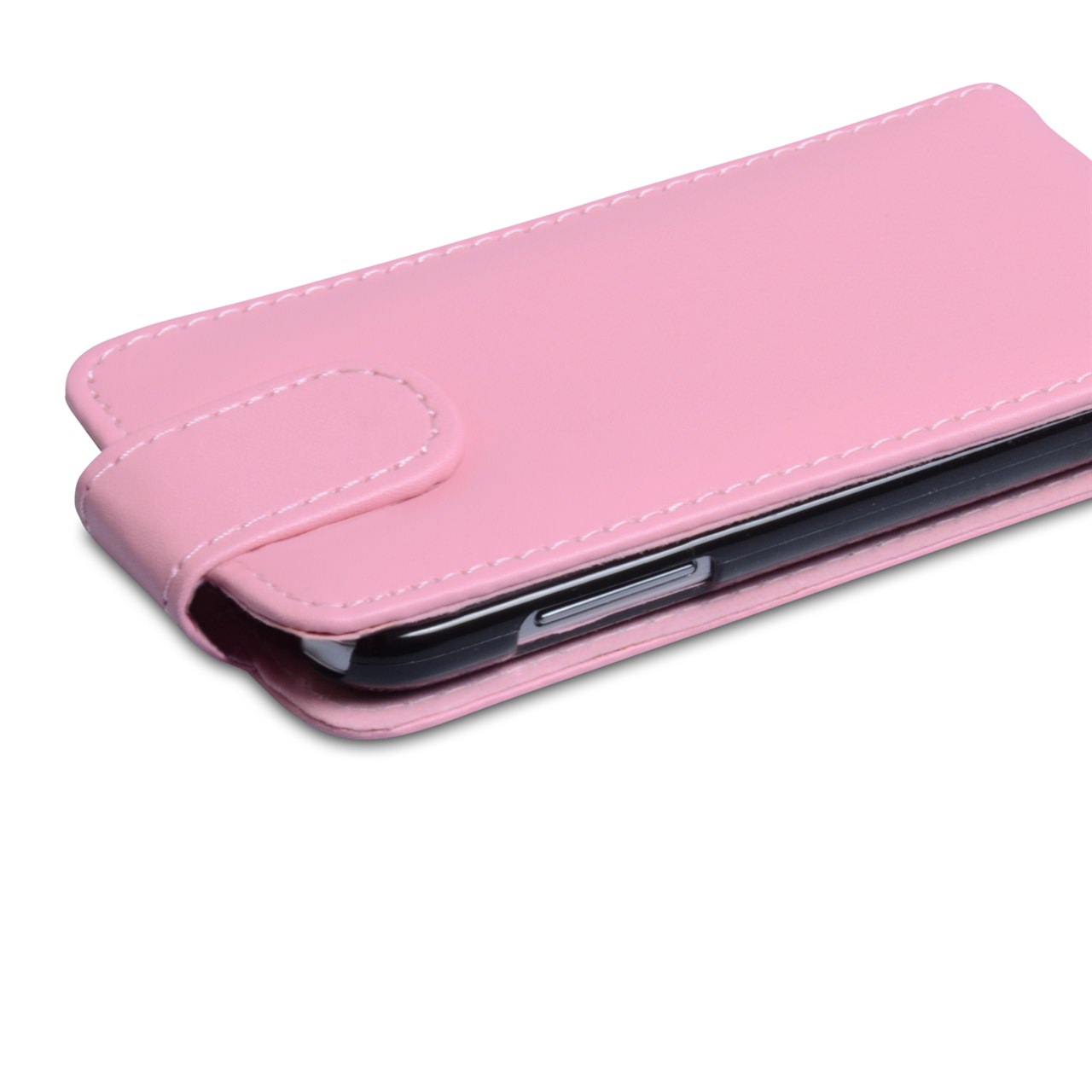 YouSave Samsung Galaxy S4 Mini Pink Leather Effect Flip Case