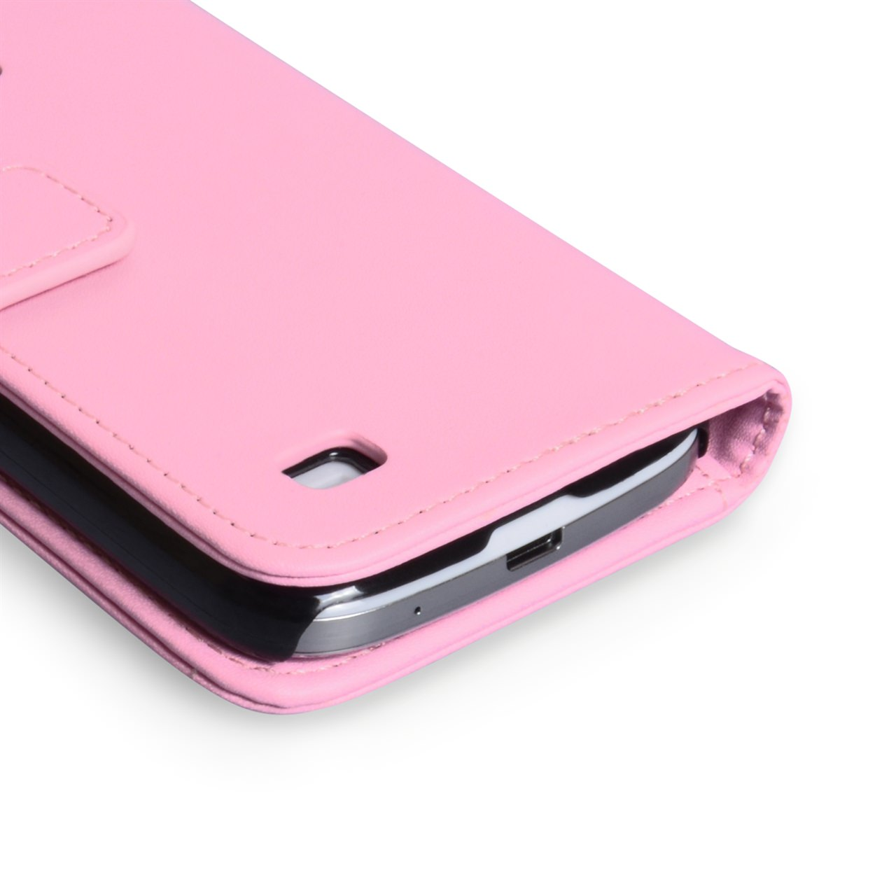 YouSave Samsung Galaxy S4 Mini Leather Effect Wallet Case - Pink