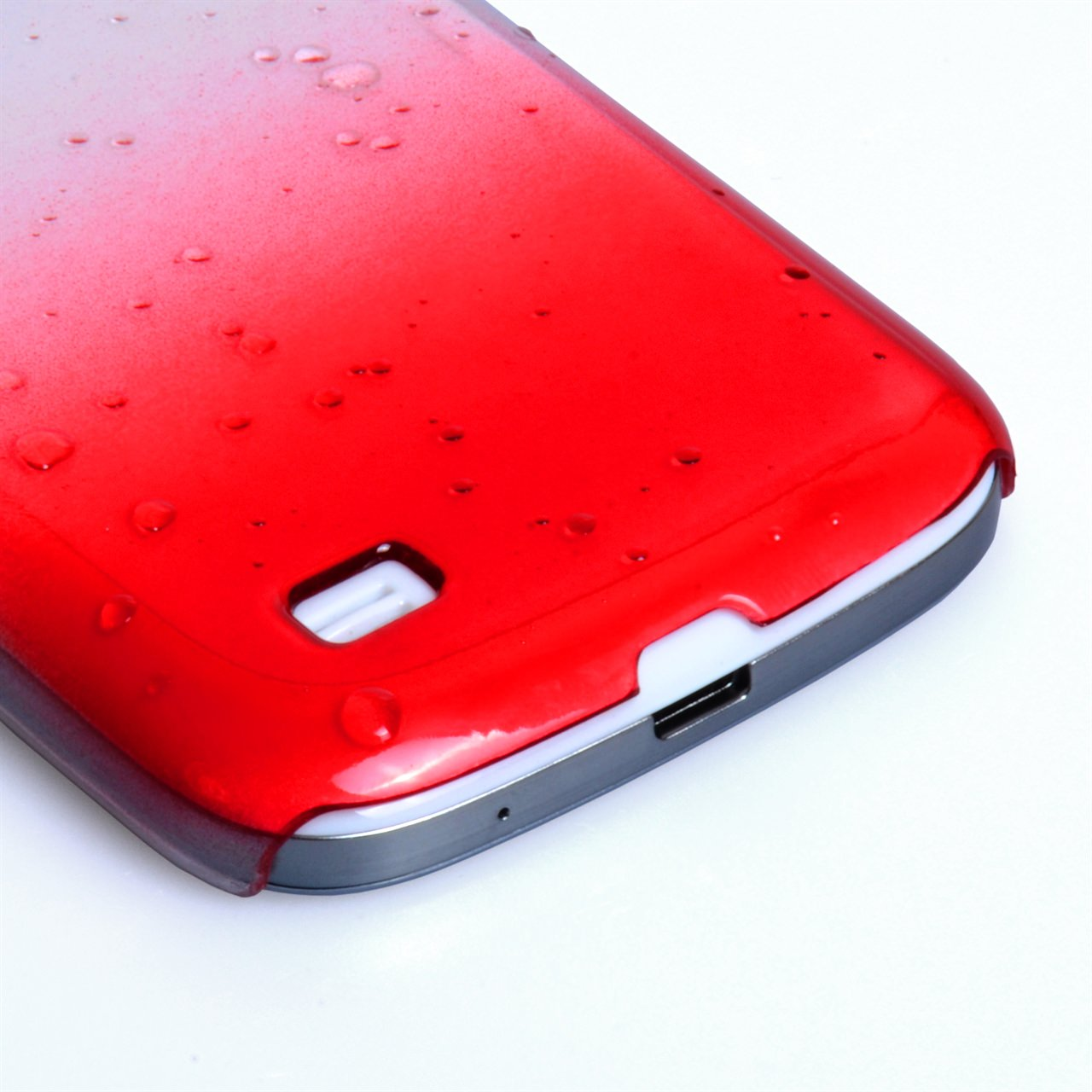 YouSave Accessories Samsung Galaxy S4 Mini Red Raindrop Hard Case