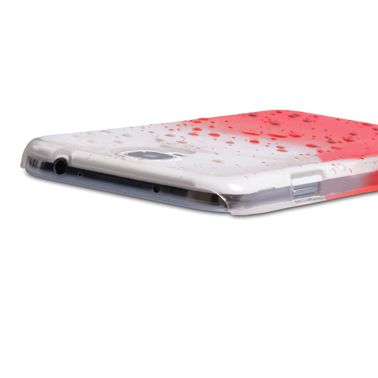 YouSave Accessories Samsung Galaxy S4 Raindrop Hard Case - Red/Clear