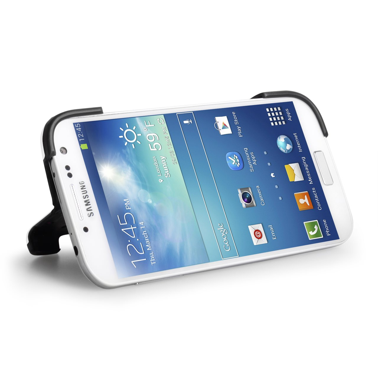 YouSave Accessories Samsung Galaxy S4 White Hard Shell Stand Case