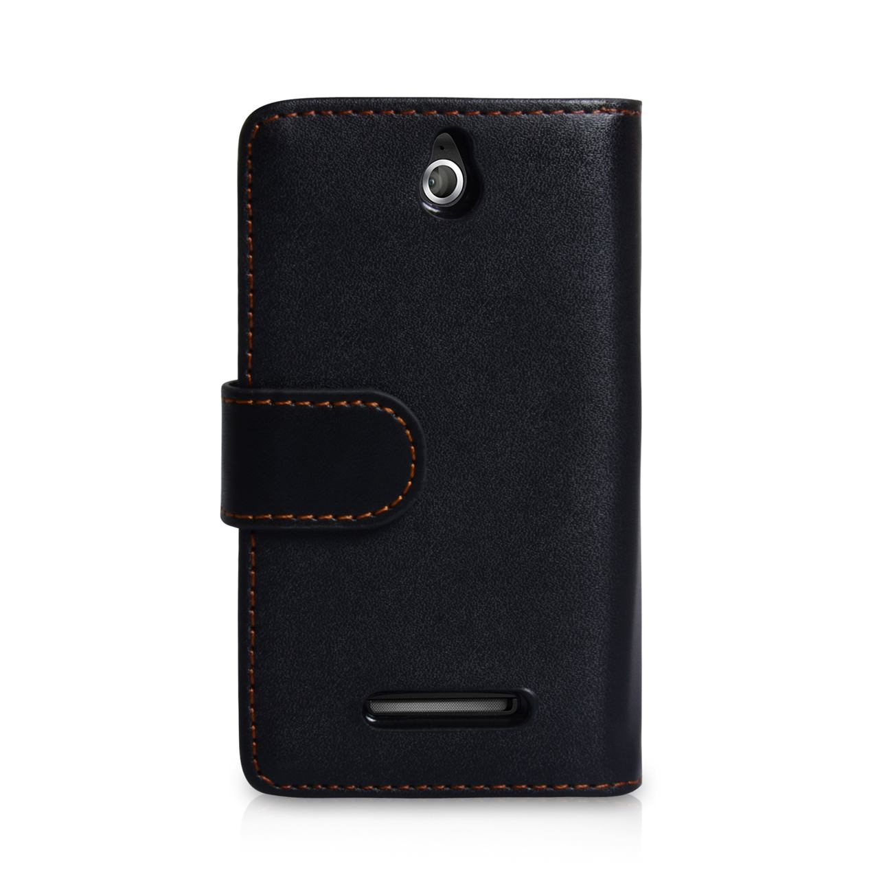 YouSave Accessories Sony Xperia E Leather Effect Wallet Case - Black