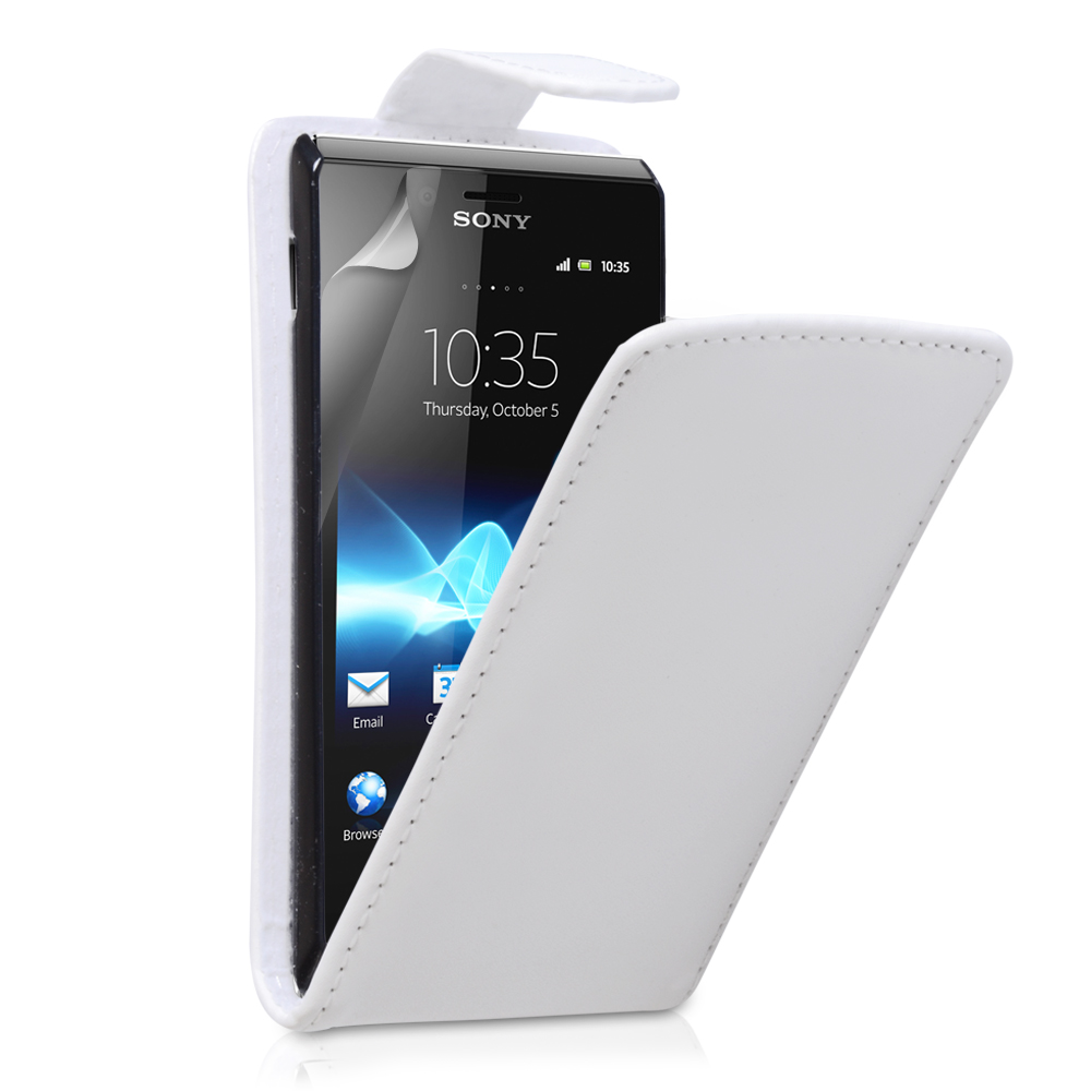 YouSave Accessories Sony Xperia E Leather Effect Flip Case - White
